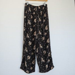 SAG Harbor Wide Leg Floral Pants Navy Size Small